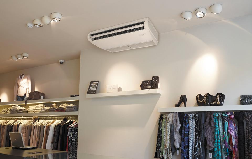 Потолочный кондиционер в магазине одежды